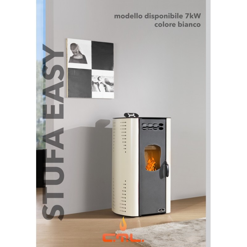 Stufa a pellet ctl easy 7kw for Foco stufe pellet