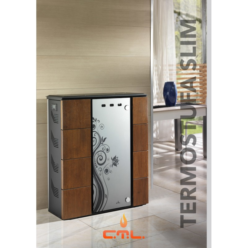 Termostufa a pellet ctl slim 20kw for Foco stufe pellet